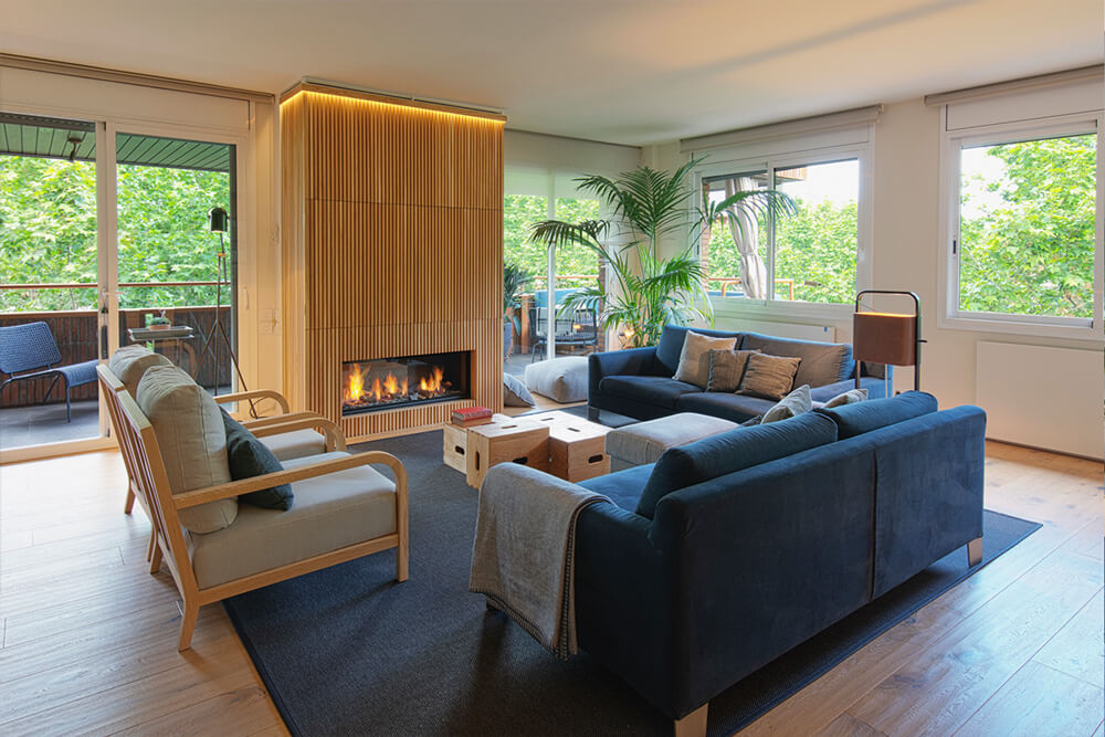 Apartamento Les Tres Torres Salón iPad | Pablo Peyra Studio