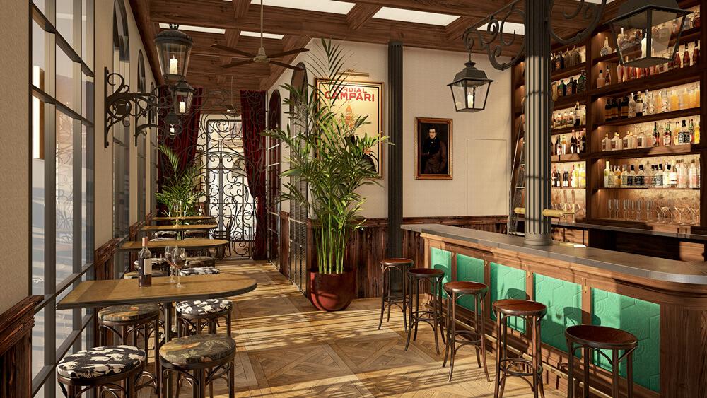 La Farola interior restaurante   Pablo Peyra Studio